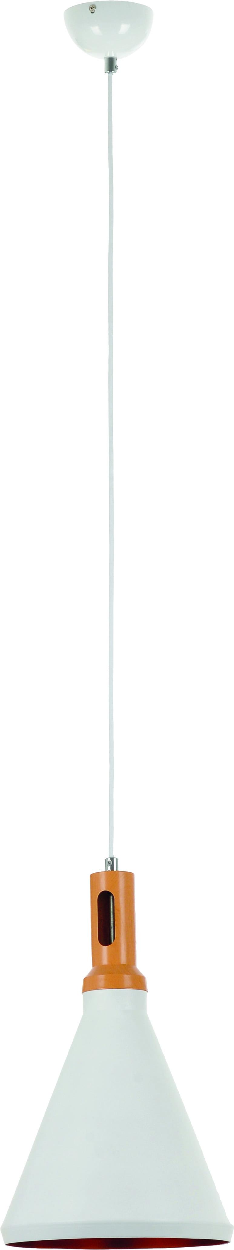 Pendant lamp Selene wood and white 60W