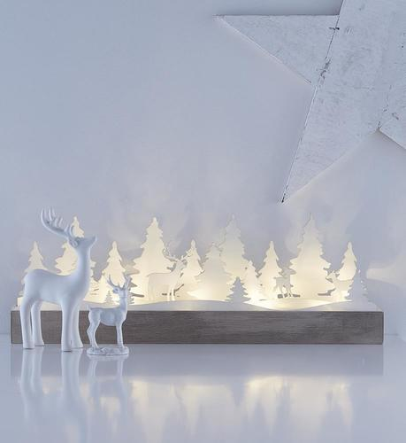 Table decoration for the holidays JOHANNESBERG white LED