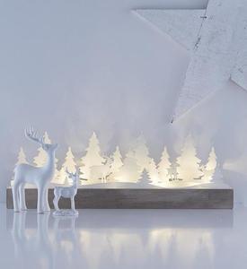 Table decoration for the holidays JOHANNESBERG white LED small 0