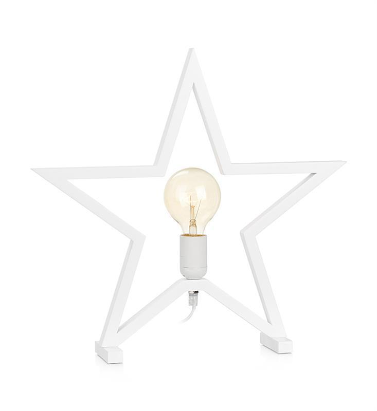 MARTA decorative star on a white table