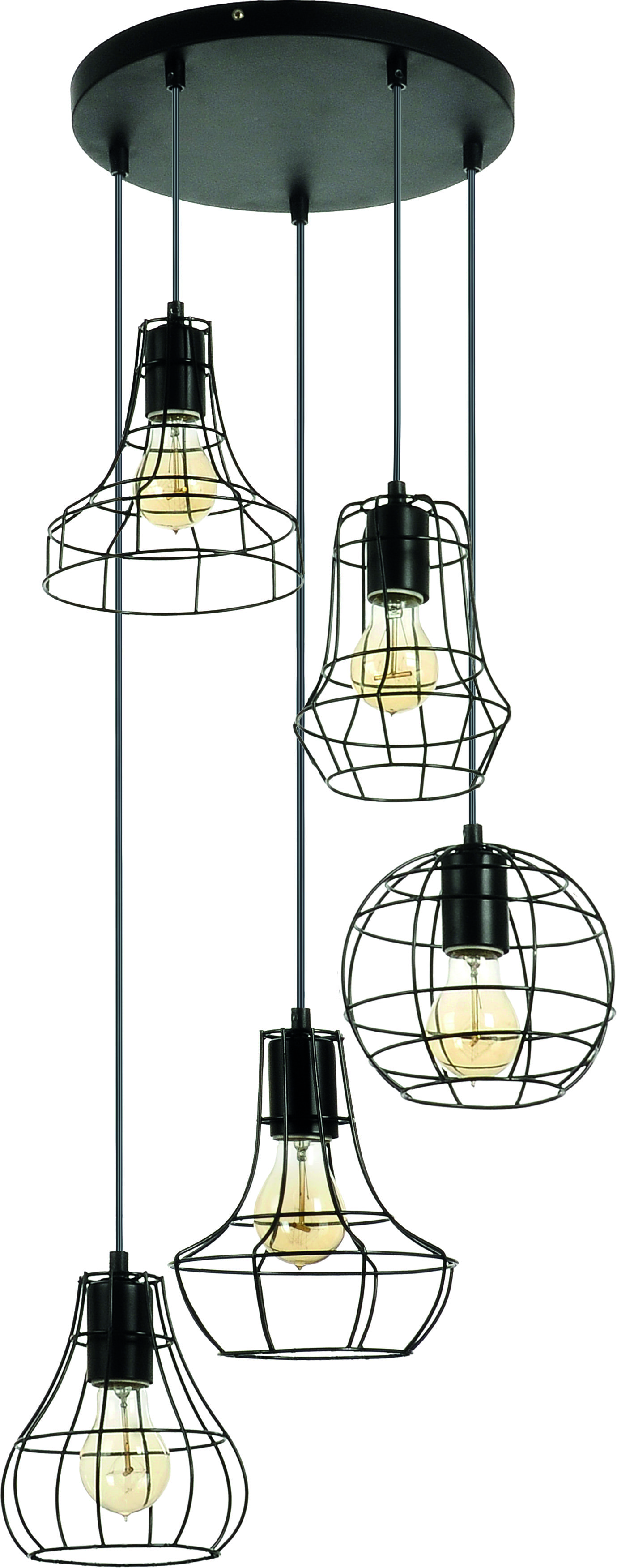Loft 5-point hanging lamp Outline Cage