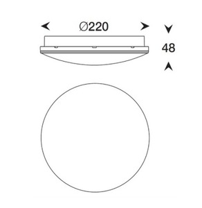 Plafond Bellatrix LED 4000K IP65 white small 1