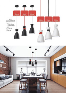 Black and white Noreen Pendant Lamp small 2