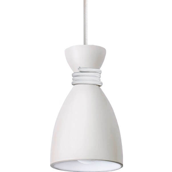 White Metal Pendant Lamp Vivian