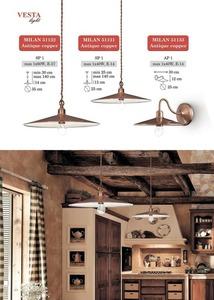 Antique-copper Aurelia Pendant Lamp small 2