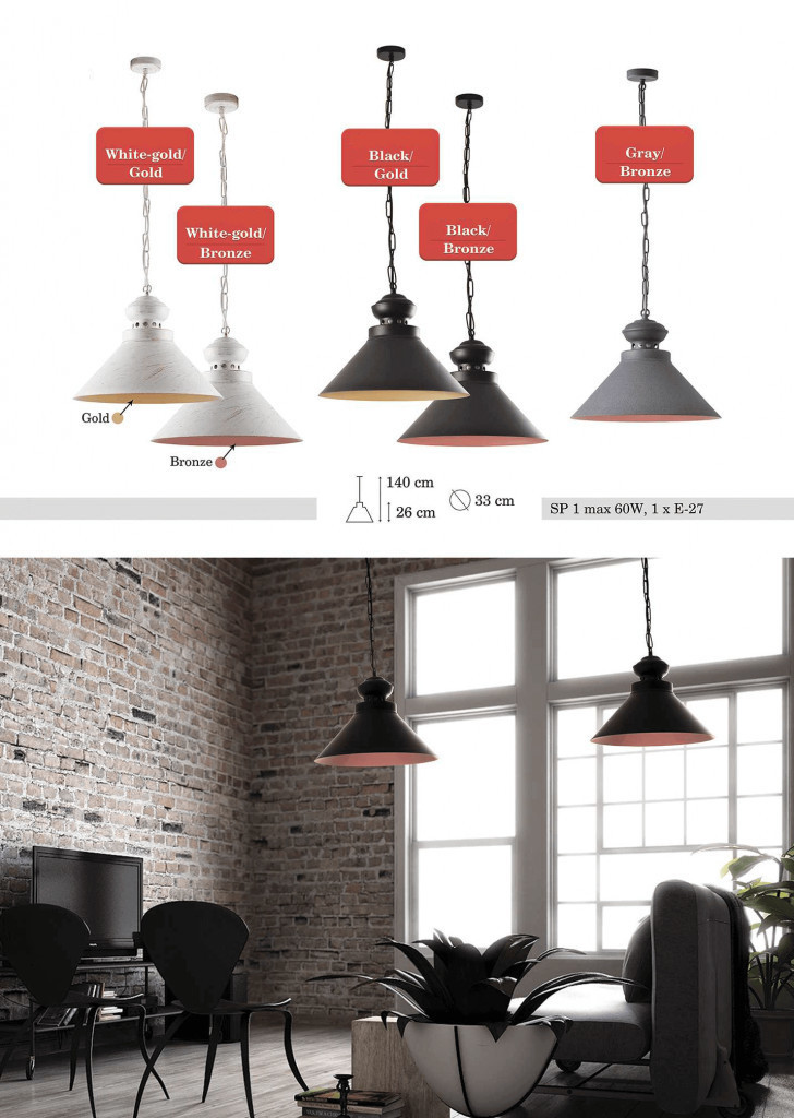 Black and brown Hanging Maisie Lamp