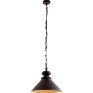 Black with gold Barbra Pendent lamp small 1