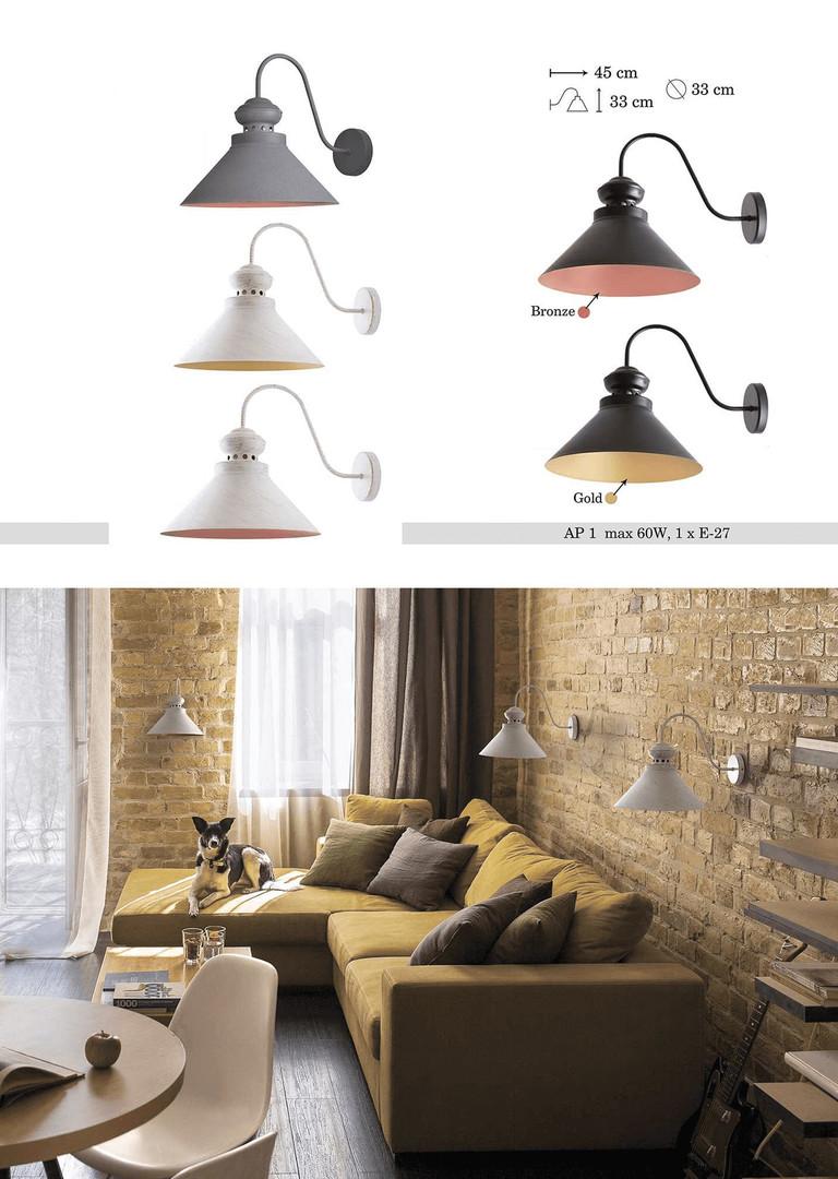 Beat-gold Metal Charlie Wall Lamp