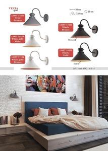 Gray-brown Metal Lamp Wall Lamp Sam small 0