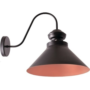 Black with bronze Frank Wall Lamp small 1