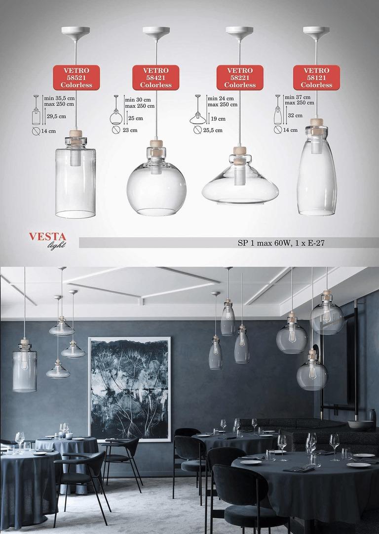 Clear Glass Gabrielle Pendant Lamp