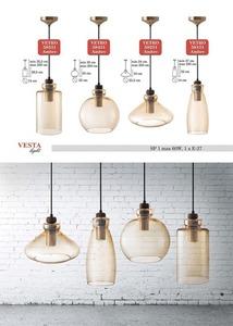 Ambre Glass Pendant Lamp Larissa small 0