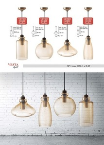 Ambre Glass Justine Pendant Lamp small 0