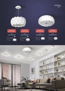 White ceiling lamp Doris ceiling small 1