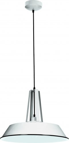 Alvar metal pendant lamp white