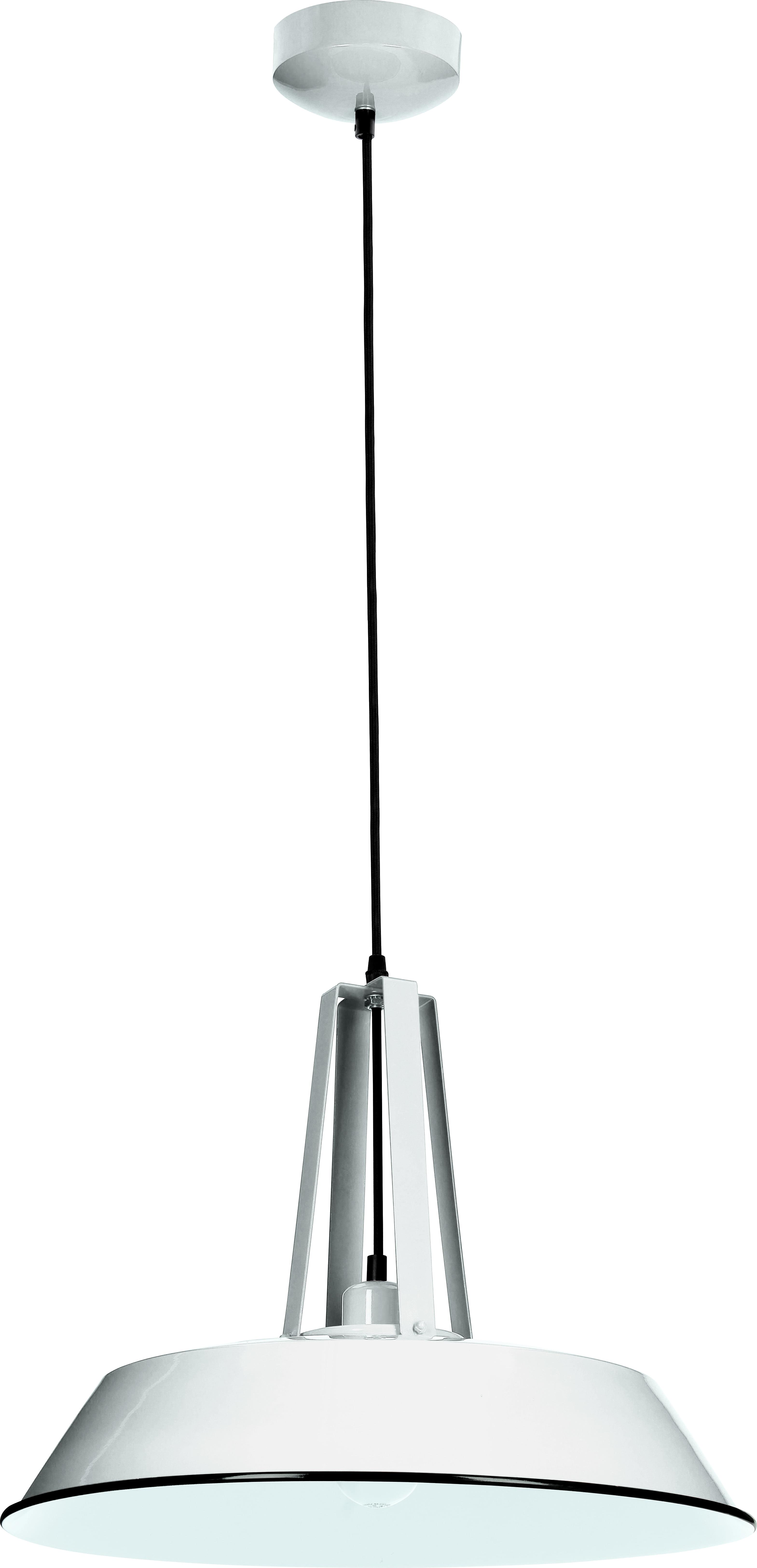 Alvar metal pendant lamp white