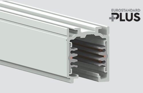 Busbars EUROSTANDARD PLUS length 100cm (RAL 9010) STUCCHI white