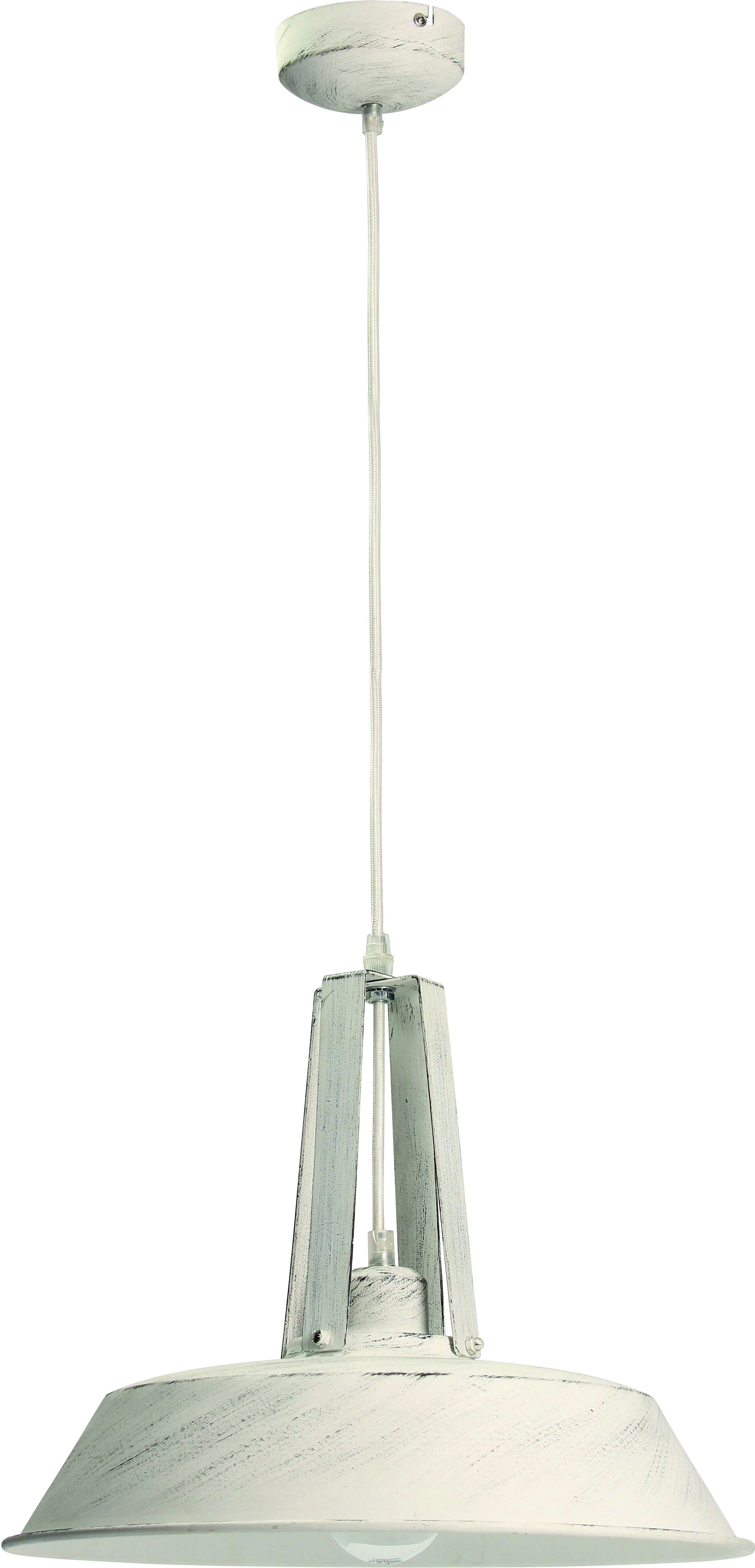 Hanging lamp with metal Alvar white antique
