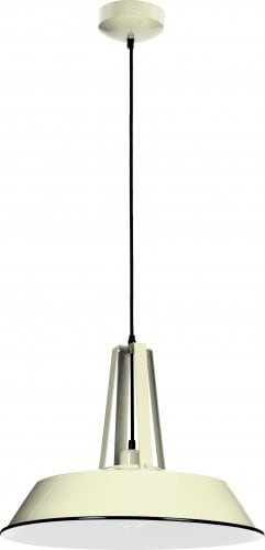 Industrial Alvar lamp in ivory color