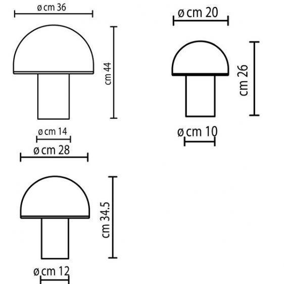 Onfale Piccolo Artemide white table lamp