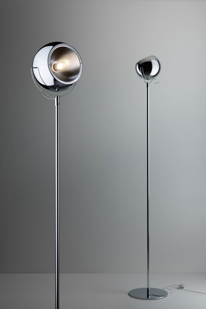 Floor lamp FABBIAN Beluga chrome D57C0115