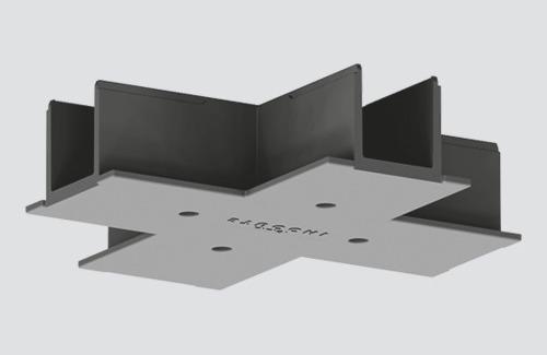 Bushing cover type X for STUCCHI mortise bars, white, gray, black
