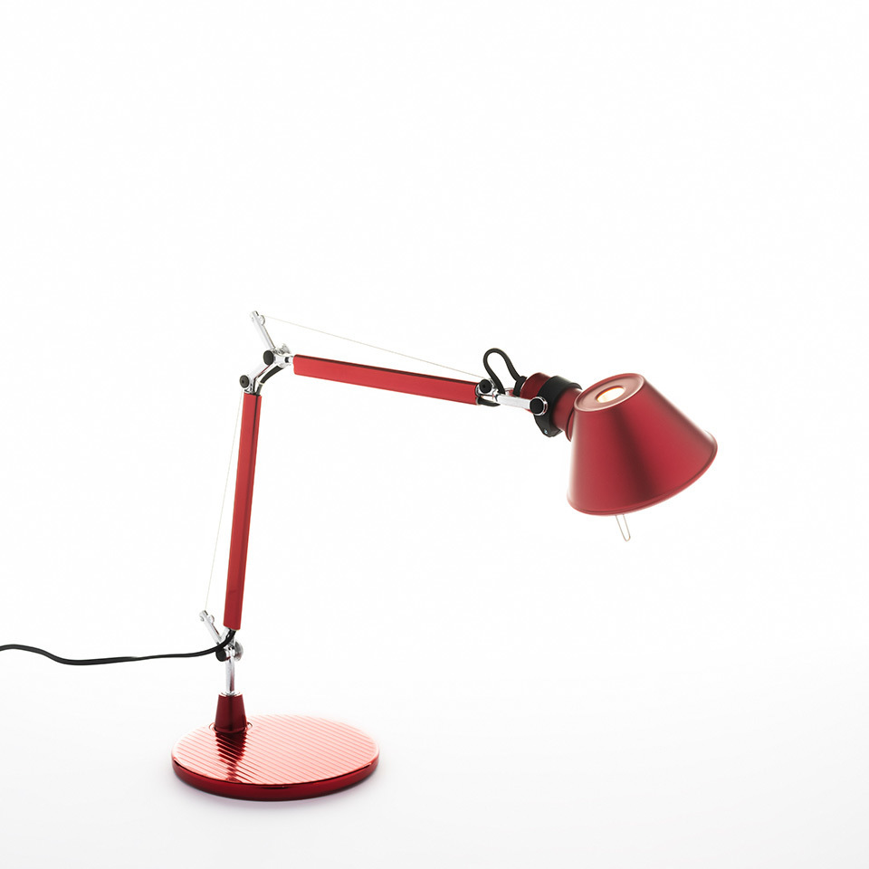 Desk lamp Artemide TOLOMEO micro red