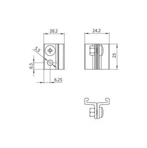 STUCCHI short lifting bracket, aluminum small 1