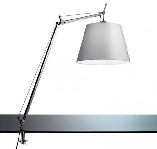 Desk lamp clamp Artemide TOLOMEO (satin bowl ø32cm)