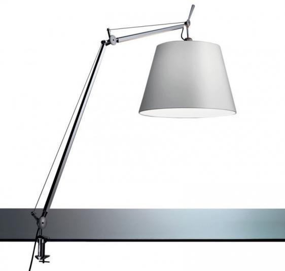 Desk lamp clamp Artemide TOLOMEO (satin bowl ø32cm)