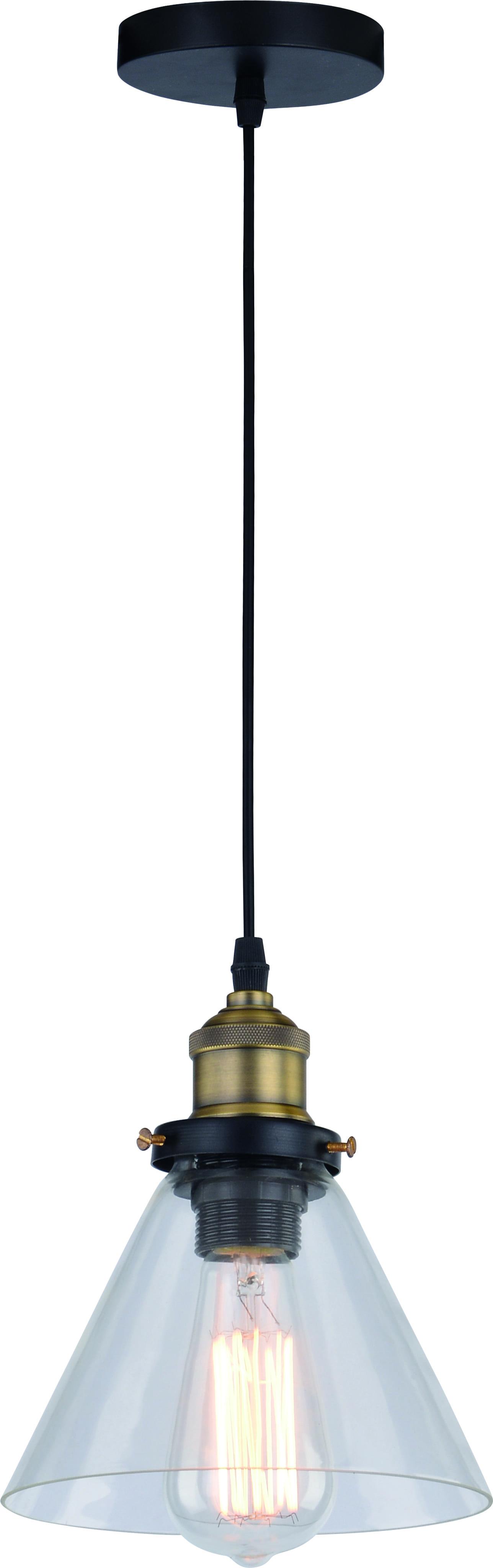 Hanging lamp Conrad transparent lampshade 60W