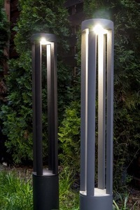Gray metal lighting pole LED Windmill Post 80cm 10W 6400K / 4000K / 2700K small 9