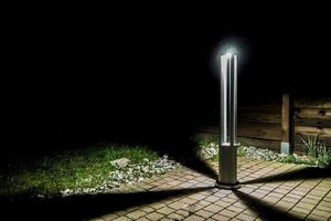 Gray metal lighting pole LED Windmill Post 80cm 10W 6400K / 4000K / 2700K small 8