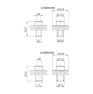 ALU M10 connector for adapters 9009 and S-9000 / M, STUCCHI busbars small 1