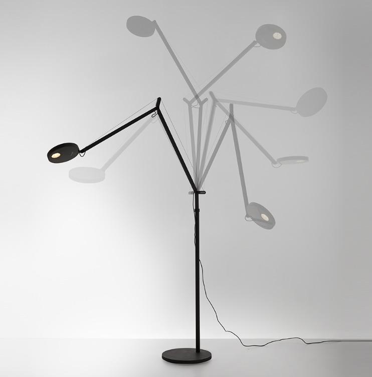 Floor lamp for reading Artemide DEMETRA Anthracyt 2700K