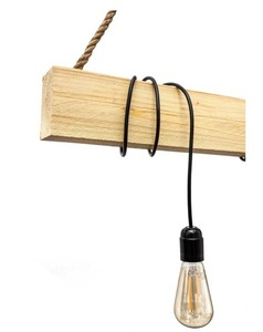 Hanging lamp wooden loft beam Marlo clear pine small 1