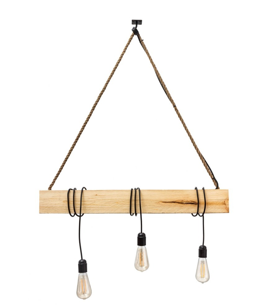 Hanging lamp wooden loft beam Marlo clear pine