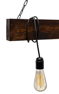 Hanging lamp wooden loft beam Marlo rosewood small 1