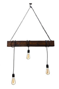 Hanging lamp wooden loft beam Marlo rosewood small 0