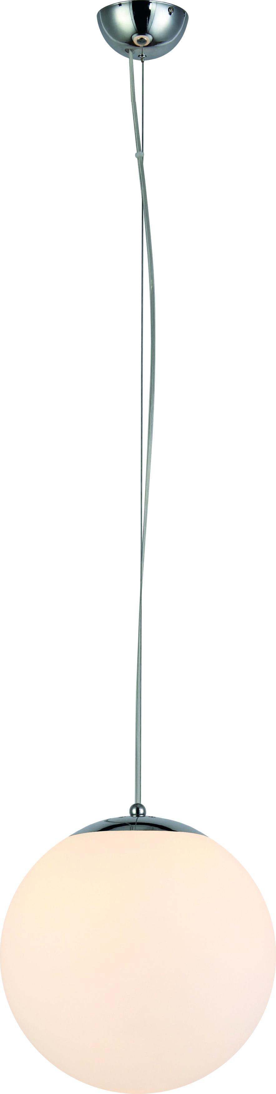 Hanging lamp with white glass shade KULA Emil 30 cm