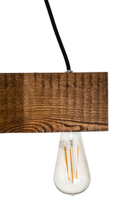 Wooden hanging lamp cross Dalwik satin oak small 2
