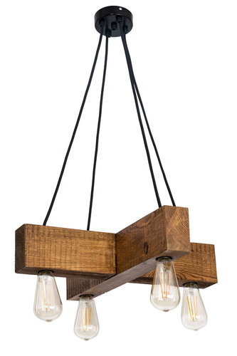 Wooden hanging lamp cross Dalwik satin oak