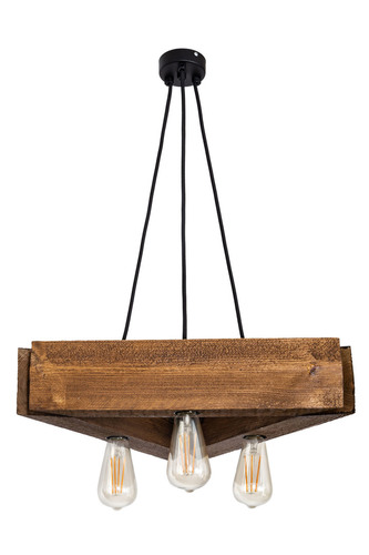 Wooden hanging lamp loft cross PARILLA satin oak