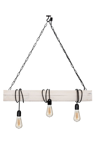 Hanging lamp wooden loft beam Marlo bright birch