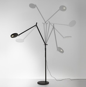 Floor lamp for reading Artemide DEMETRA black gloss 3000K / 2700K small 0