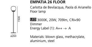 Floor lamp Artemide EMPATIA 26 small 1