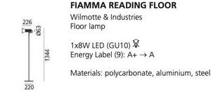 Artemide FIAMMA floor reading lamp, black small 1