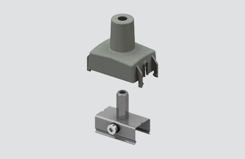 M6 handle + cover, STUCCHI, white, gray, black