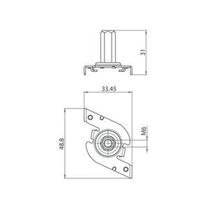 Fast M6 mounting bracket, STUCCHI busbars, steel, white, black, gray small 1