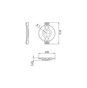 Lock cover S-9209-BD-xx, STUCCHI busbars, polycarbonate, white, black small 1